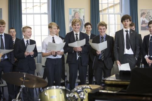 Boys take their place in the Chapel Choir