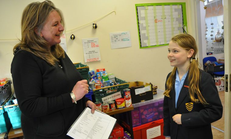 Madeleine T at Hereford Food Bank