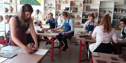 Verity Howard's clay workshop