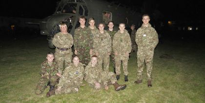 HCS Cadets and the Chinook