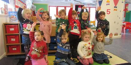 Christmas Jumper Day in the HCJS Nursery