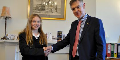 Junior Mayor Anna D and HCS Head