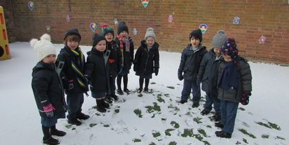 Snow in the HCJS Nursery