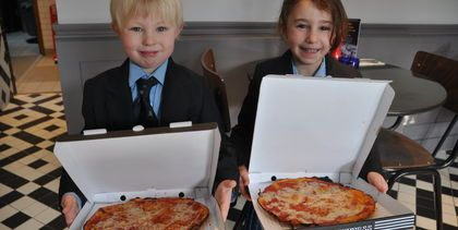 Reception Class at Pizza Express