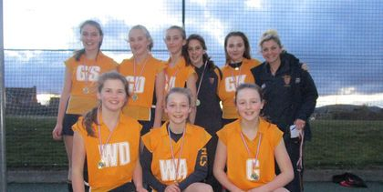 U13 county netball winners