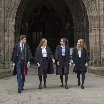 Hereford Cathedral School pupils