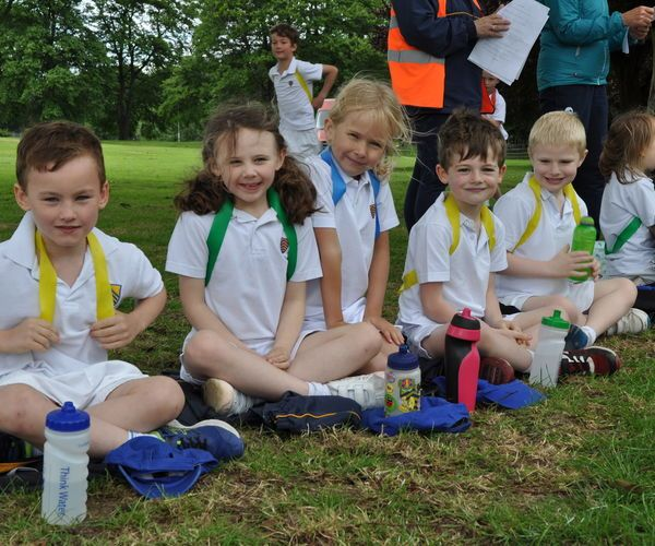 children at sports day
