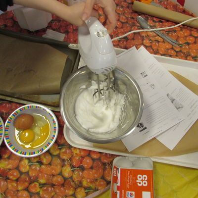 HCJS Nursery children make meringues
