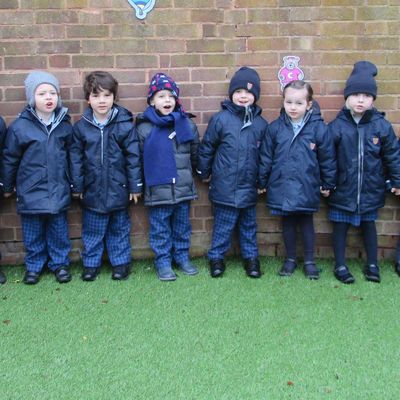 HCJS Nursery children wrap up for winter topic